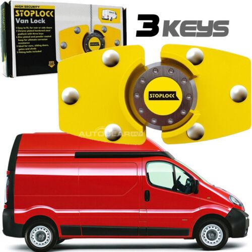 Stoplock Yellow High Security Anti-Theft Van Door Lock Hasp Padlock with 3 Keys