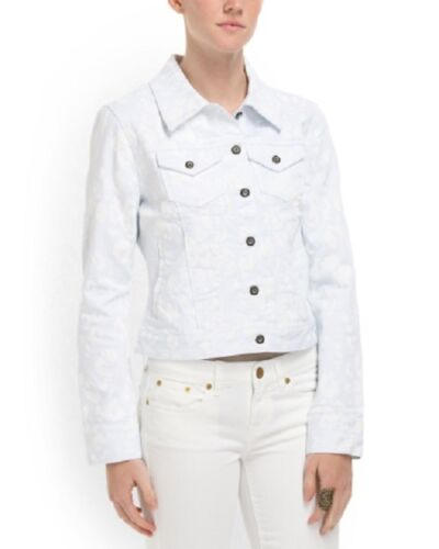 CHRISTOPHER BLUE Sharlene Crop Jacket White NWT! A MUST HAVE! $200.00