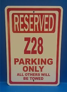 """1985 85 Mustang Ford Novelty Reserved Parking Street Sign 12/""""X18 Aluminum/"""""""