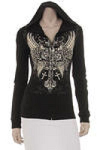 1720 Ladies Bling French Terry Hoodie
