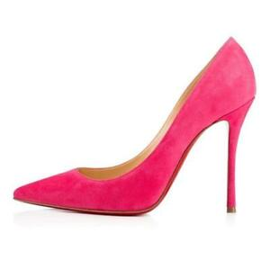 51284933dcf ... coupon code for image is loading christian louboutin decoltish 100 suede  pumps heels shoes 5618e 957c7