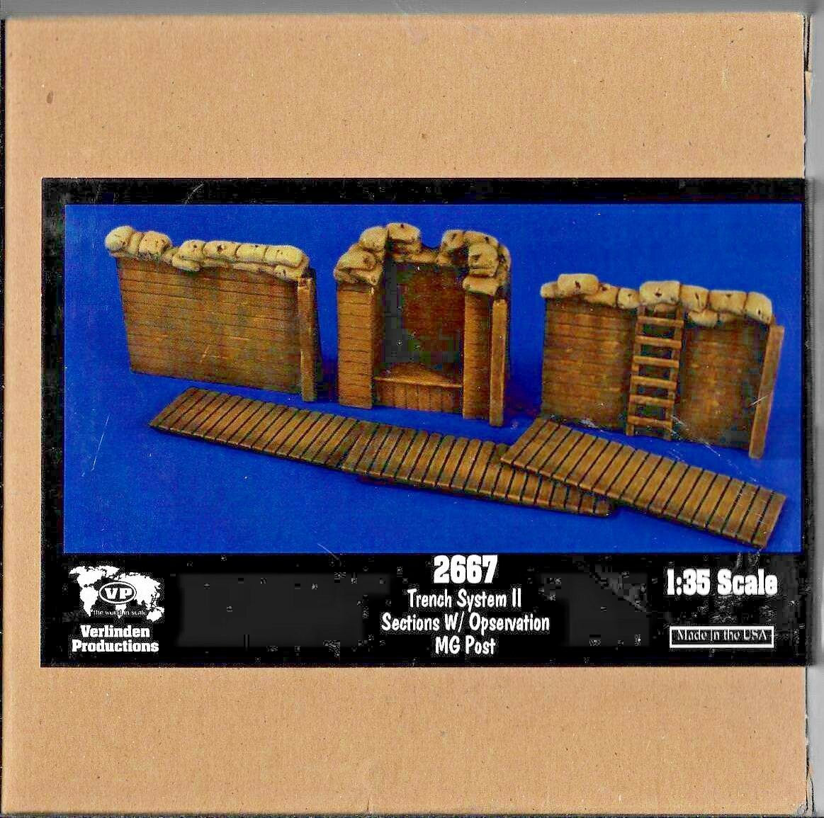 Verlinden Resin Trench System II Sections with Observation MG Post 1 35 2667