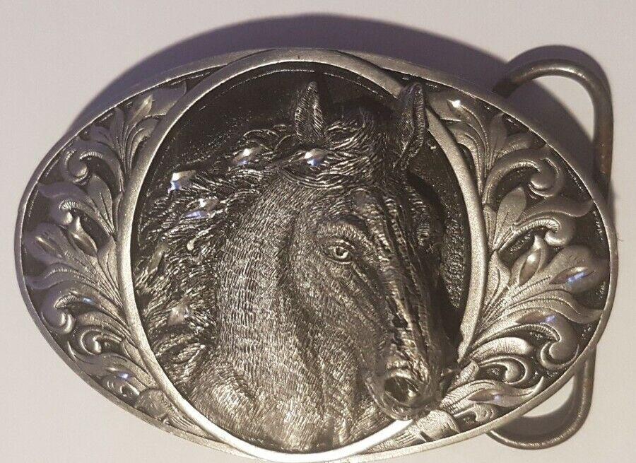 Buckle Gürtelschliesse/ Horse Head / Diamond Cut / Siskiyou / USA 1993