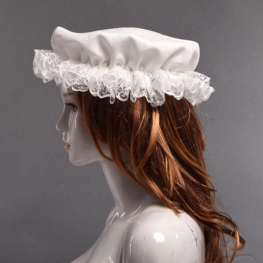 Vintage Victorian Edwardian Maid/'s Mob Cap Rétro guerre civile coloniale dentelle MOB Chapeau
