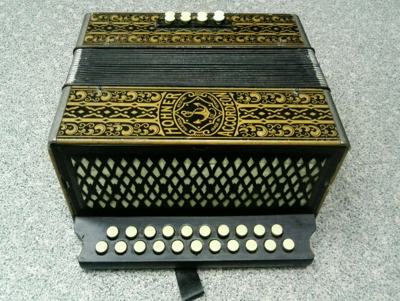 Hohner Wiener Akkordeon antik restaurert ca. 100 Jahre alt spielfertig C-F