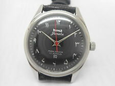 mechanical hmt janata urdu hand winding men's steel vintage india watch run -sa6