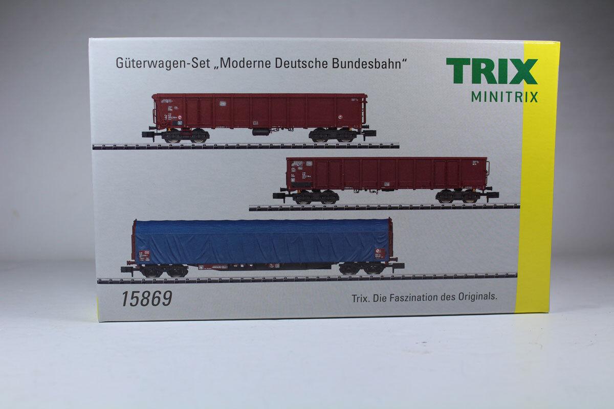 Minitrix 15869 Güterwagen-Set Moderne Moderne Moderne Deutsche Bundesbahn, Neuware.    Kaufen Sie beruhigt und glücklich spielen  563b14