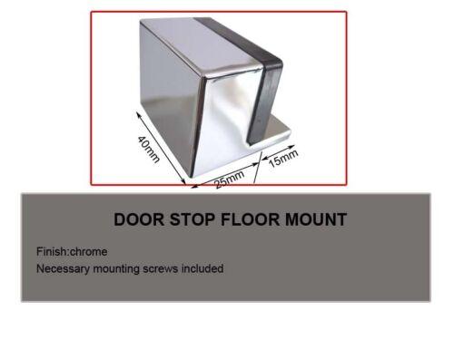 Door Stops Door Stoppers !!! floor mounted Chrome finish