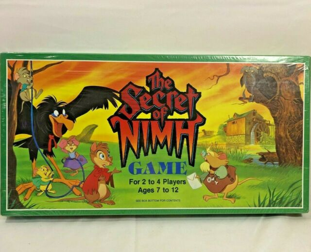 The Secret of Nimh Board Game 1982 Whitman Vintage New Factory Sealed