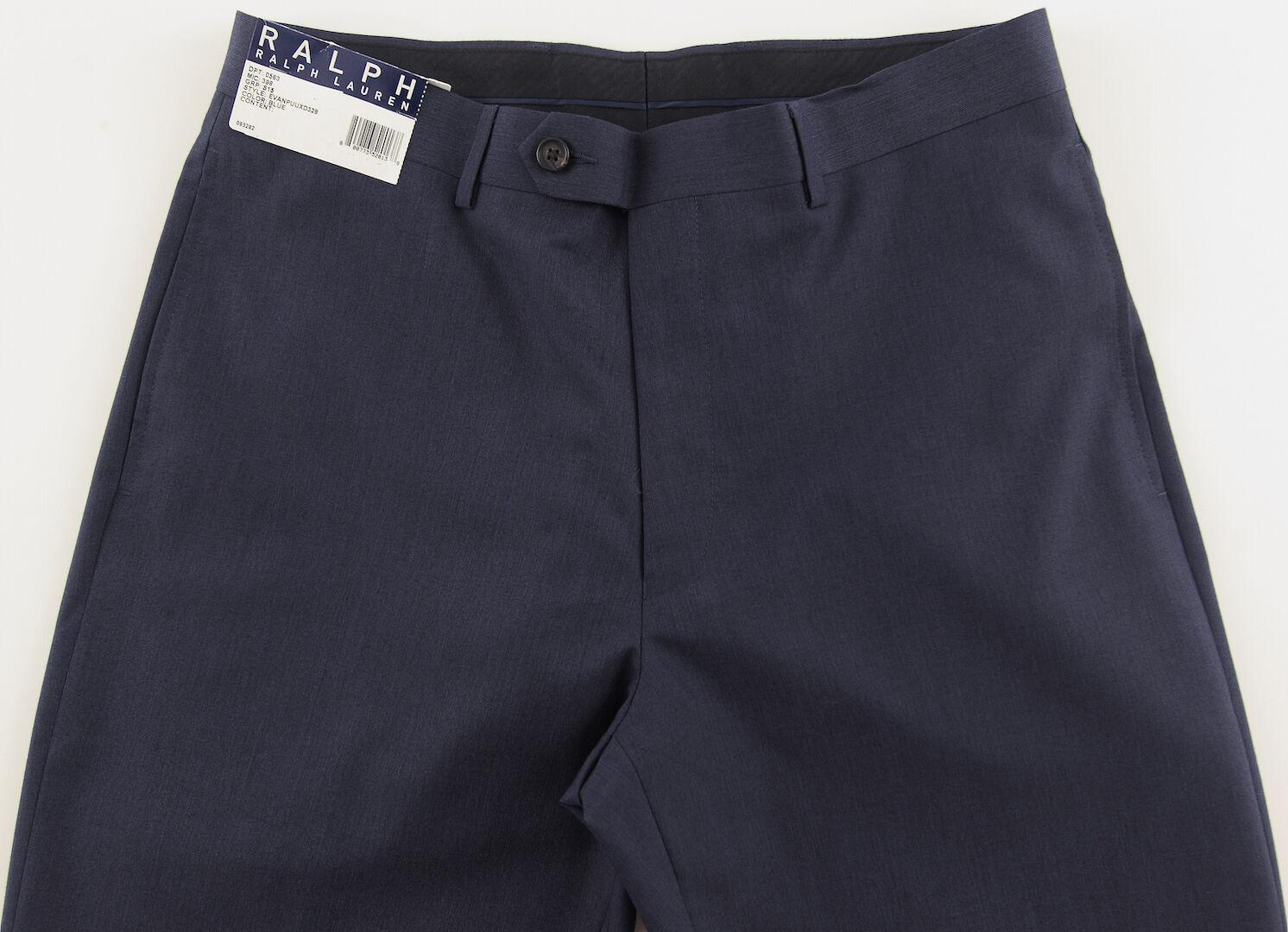 Men's RALPH LAUREN Navy bluee Dress Pants 34x32 34 32 NWT NEW Washable Nice
