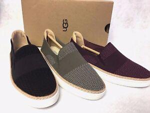 fe5be0f8b74 Details about UGG Australia Sammy Slip On Hyper Weave Casual Sneakers  1016756 Black Port Slate