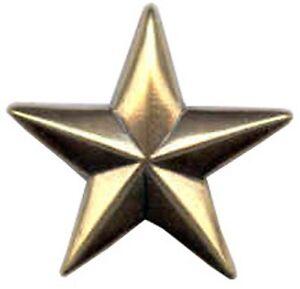 """Western Equestrian Cowboy Decor Copper Engraved Star 3//4/"""" Concho"""