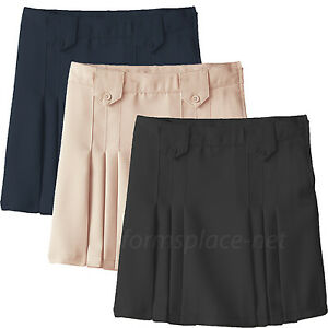 0347777ac Girls Skirt French Toast Girls Front Pleated Skirts with Tabs School ...