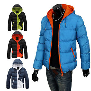 Mens Slim Casual Herren Winter Jacke Parker Parka Overcoat Autumn Steppjacke Kit