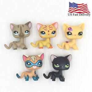 5pcsbag Littlest Pet Shop Toys Old Lps Cats Super Cat 468 2118