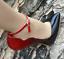 Women/'s Stilettos Buckle Pointed Toe 16cm Super High Heel Party Nightclub Shoes