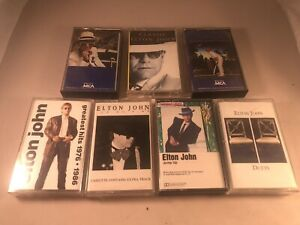 Elton John Cassette Tapes Lot of 7 Classic Greatest Hits Ice On Fire Jump Up