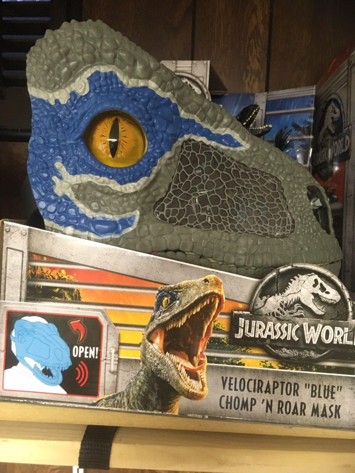 Jurassic World Velociraptor bluee Chomp 'N Roar Mask NEW Sealed