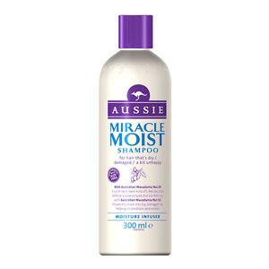 Aussie Miracle Moist Shampoo For Dry Damaged Hair Macadamia Oil 300ml 10 Fl Oz Ebay