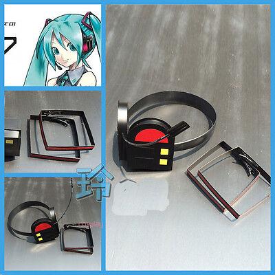 Hatsune Miku Vocaloid Cosplay Earphone Miku Black Headset Hair Accessory