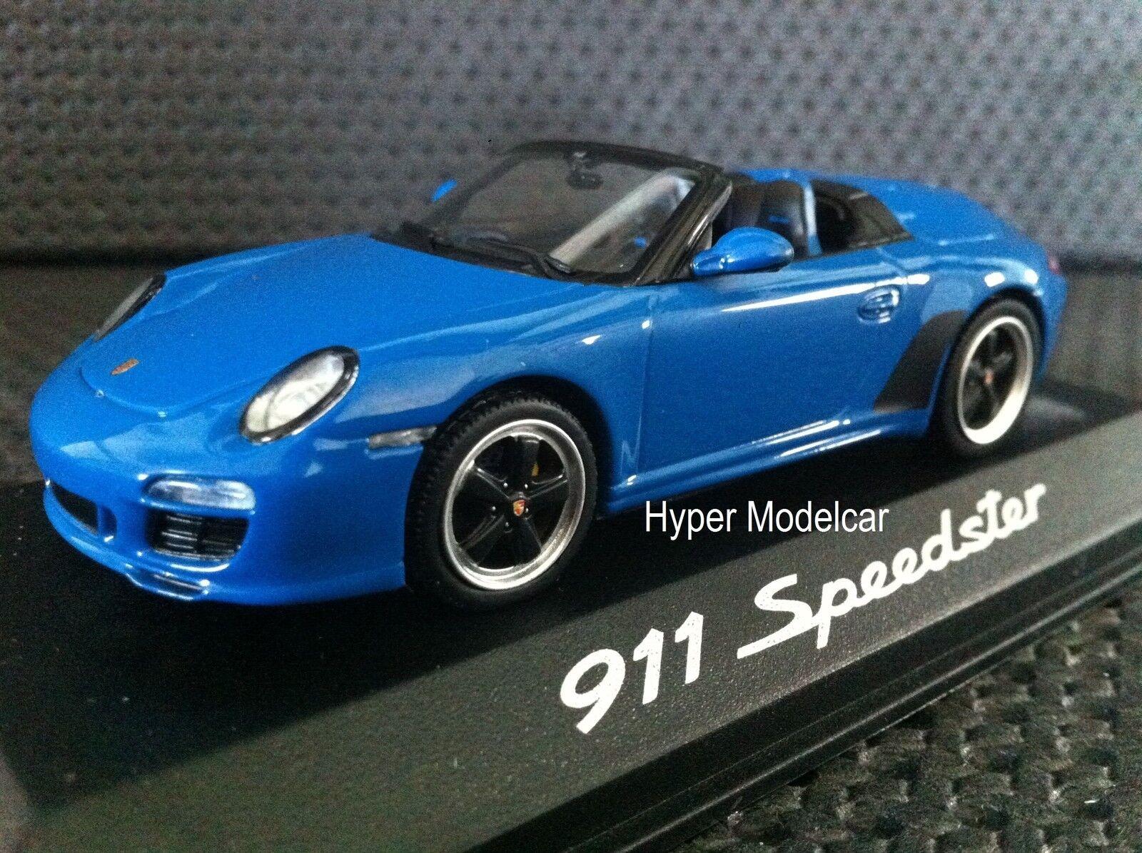 Minichamps 1/43 Porsche 911 Speedster (997) 2010 Blue Art.400069530