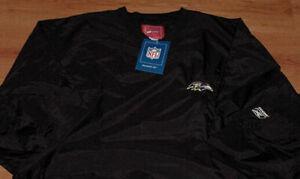 Baltimore-Ravens-Pullover-Jacket-XL-Black-Reebok-NFL