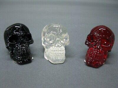 Dynamisch Set Von 3 Stück Totenkopf Skull Briefbeschwerer 5 Cm Kristallschädel Einfach Und Leicht Zu Handhaben
