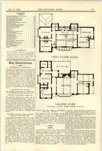 1907 West Downs School Winchester Masters Lodge Plan - Bishop Auckland, United Kingdom - 1907 West Downs School Winchester Masters Lodge Plan - Bishop Auckland, United Kingdom