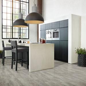 atlas grey wood effect cushion vinyl flooring sheet 4mm