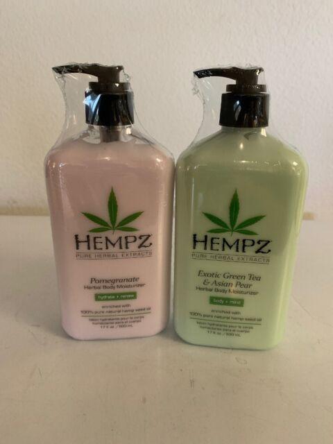 Lot of 2 Hempz Pomegranate & Green Tea  Moisturizer Lotion 17oz Bottles