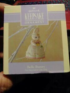 Hallmark-1992-Belle-Bunny-Spring-Easter-Bell-Ornament-porcelain