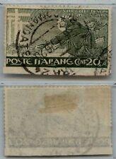 REGNO - 1926 - U - 20 cent S. Francesco NON DENTELLATO IN BASSO (192c) BDF