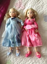 Zapf Jolina Princess Cinderella & very Rare Princess Sleeping Beauty RETIED