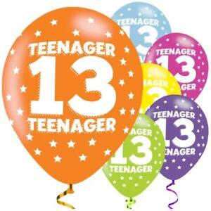 Image Is Loading Teenager 13th Birthday 11 034 Latex Balloons Teenage