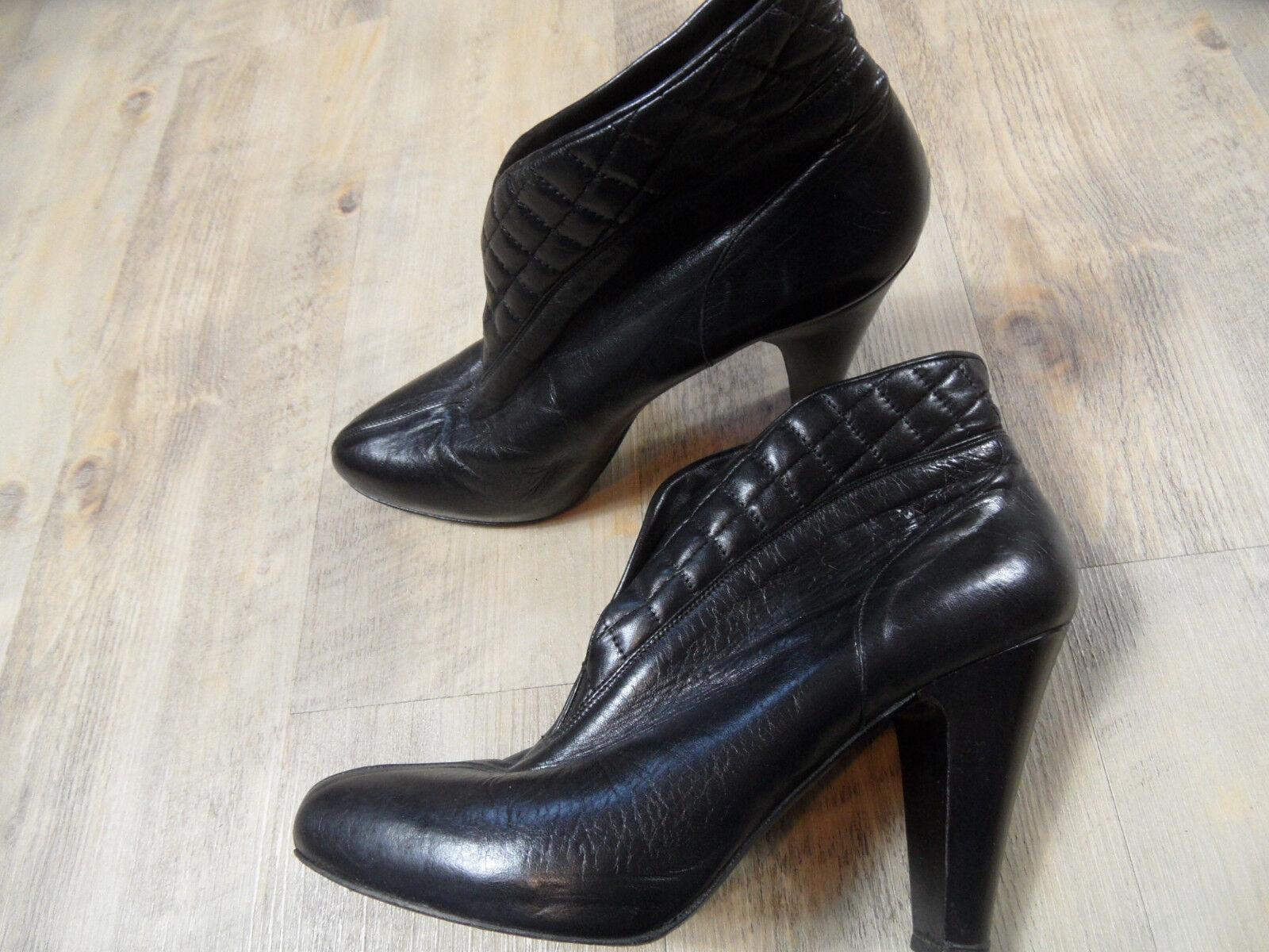 DUCCIO DEL DUCA stylische AnkleStiefel SchlupfStiefel grau Gr. 40 TOP BI318