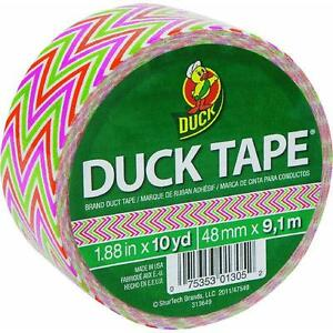 Neon Lime Duck Tape ShurTech868089 repairs crafts color coding multiple uses 6PK
