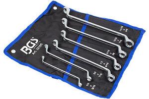 Ringschlussel-Set-6-tlg-Doppelringschlussel-1-4-3-4-Zoll-Werkzeug-Satz-Schlussel