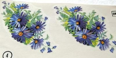 """#1217 Ceramic Decals 8 BLUE ASTER SWAGS  3"""""""