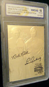 BABE-RUTH-LOU-GEHRIG-70TH-ANNIVERSARY-AUTOGRAPHED-GEM-MT-10-23KT-GOLD-CARD