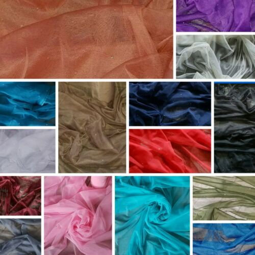 "6m diamond stud tulle fabric dress decoratingf  45/""wide"