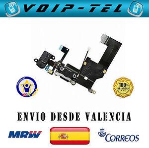 IPHONE-5-5G-USB-FLEX-RF-CABLE-CARGA-MICROFONO-CONECTOR-AURICULARES-NEGRO-NEGRA