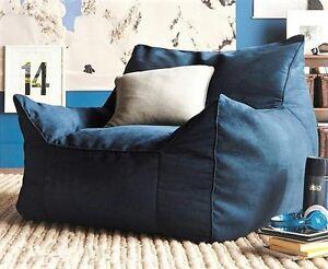 Awe Inspiring Details About Large Indoor Lounge Livnig Room Blue Dorm Beanbag Lounger Chair Cover Only Cjindustries Chair Design For Home Cjindustriesco
