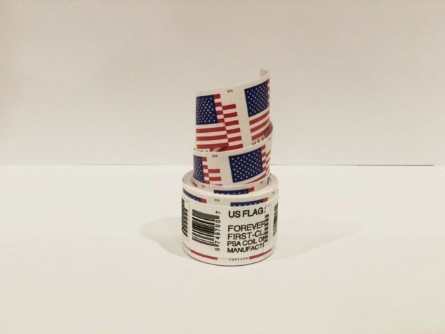 1 Roll of 100 USPS US Flag 2018 Forever Stamps with FREE SHIPPING