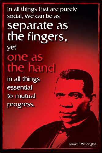 AMERICAN HERO Civil Rights History Educational POSTER WASHINGTON BOOKER T