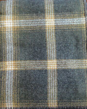 """NWT PENDLETON WOOL BLANKET QUEEN WASHABLE Oxford Grey Tan Plaid """"MADE IN THE USA"""