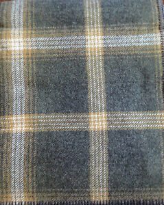 Pendleton-Wool-Blanket-Queen-NWT-Washable-Oxford-Grey-Tan-Plaid-Made-in-USA