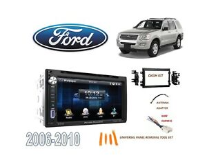 Image Is Loading 2006 2010 Ford Explorer Double Din Car Stereo