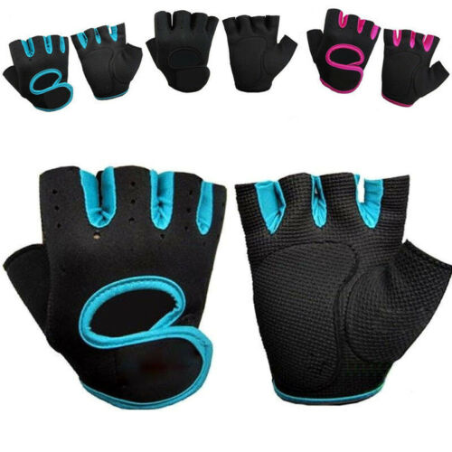 Mens Ladies Cycling Half Finger Gloves Biker Bicycle Sports MTB Mitts Fingerless
