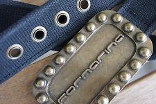 FORNARINA * stoffa cintura * Fibbia Massiccia * Incisione BORCHIE * tono bronzo * Taglia M