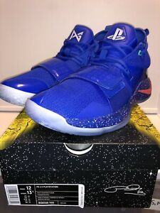 new style 5c3d7 4d58b Details about Nike Paul George X Playstation 2.5 Blue Size 12 DS NIB 100%  Authentic!